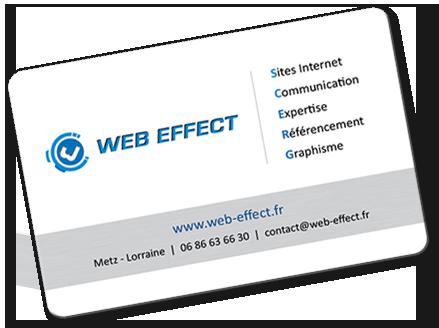 Agence Web Effect cartes de visite