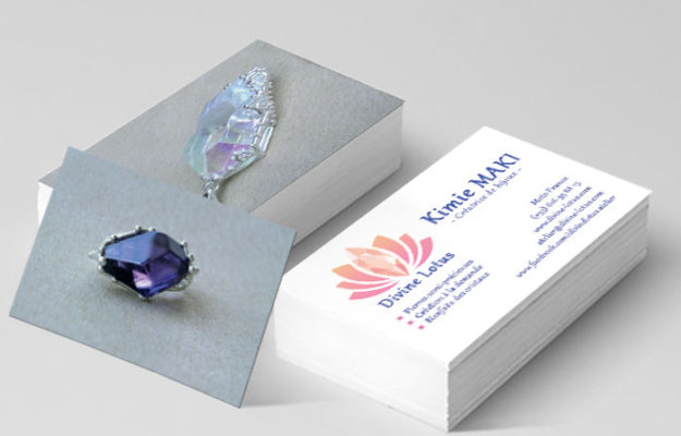 Agence Web Effect carte de visite divine lotus