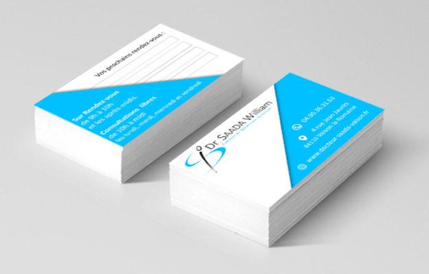 Agence Web Effect carte de visite docteur saada